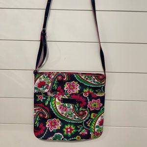 Vera Bradley Leather purse, cross body scallop